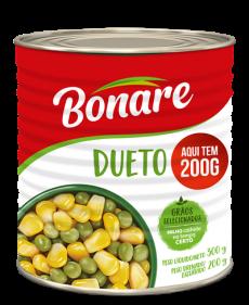 Dueto (Ervilha e Milho) Bonare Lata 200g com selo Aqui tem 200g